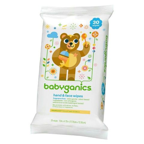 Babyganics Face Hand Baby Wipes Fragrance Free 30 Count