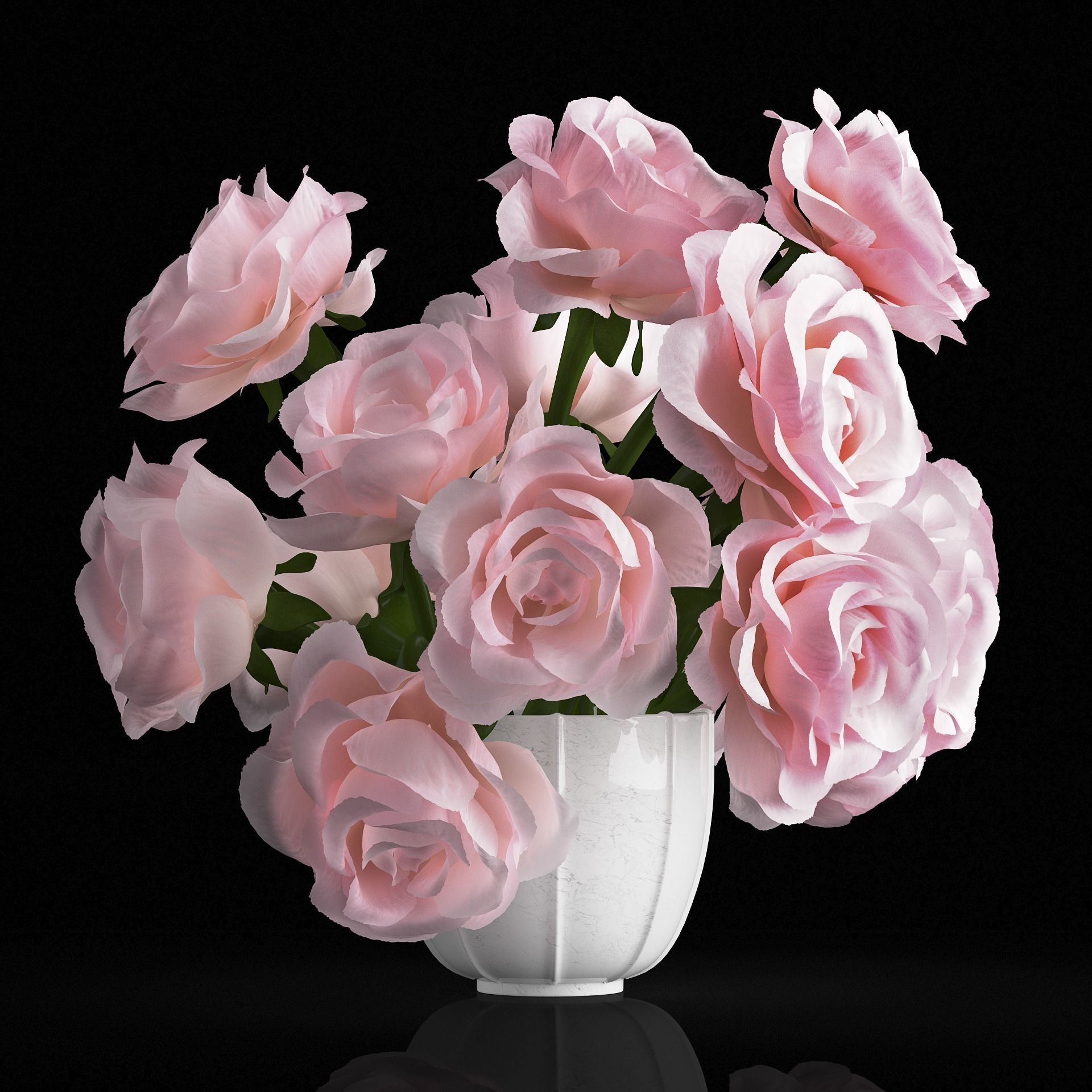 Pink Rose Bouquet 3d Model Pink Rose Bouquet Rose Bouquet Rose Centerpieces