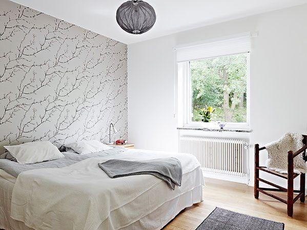 Dormitorio habitacion cuarto decorado con papel pintado 7 2 decoraci n pinterest - Papel pintado dormitorio principal ...