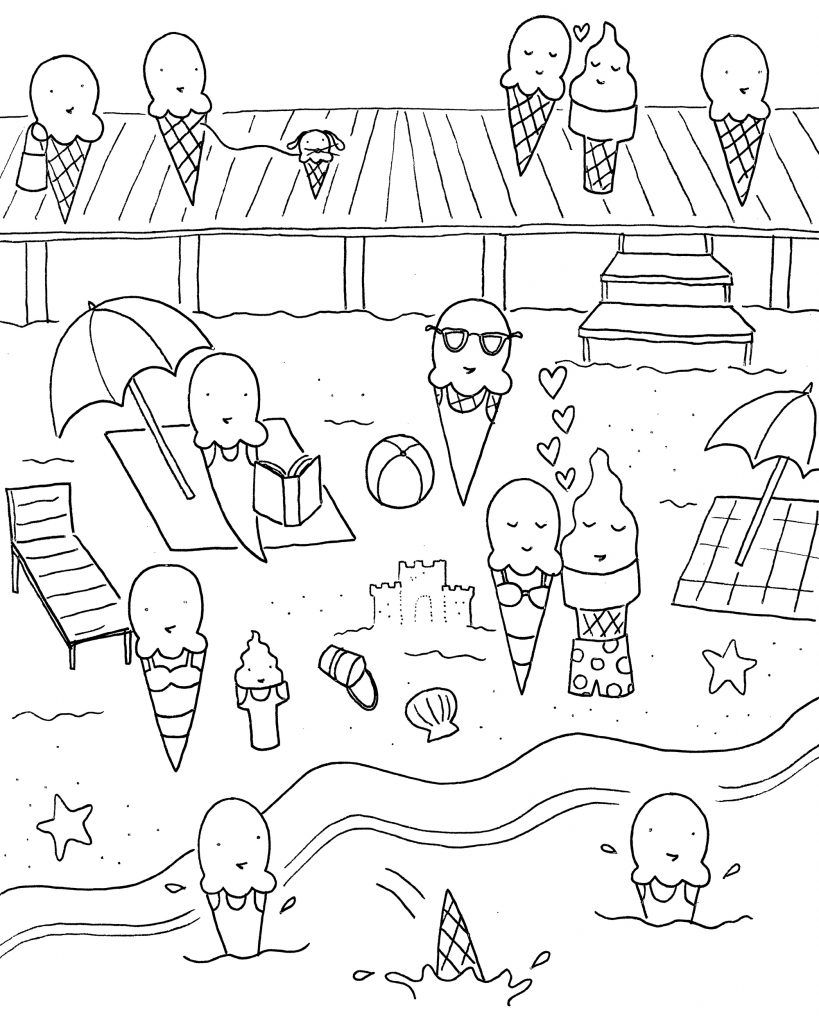 June Coloring Pages | Summer coloring pages, Cool coloring ...
