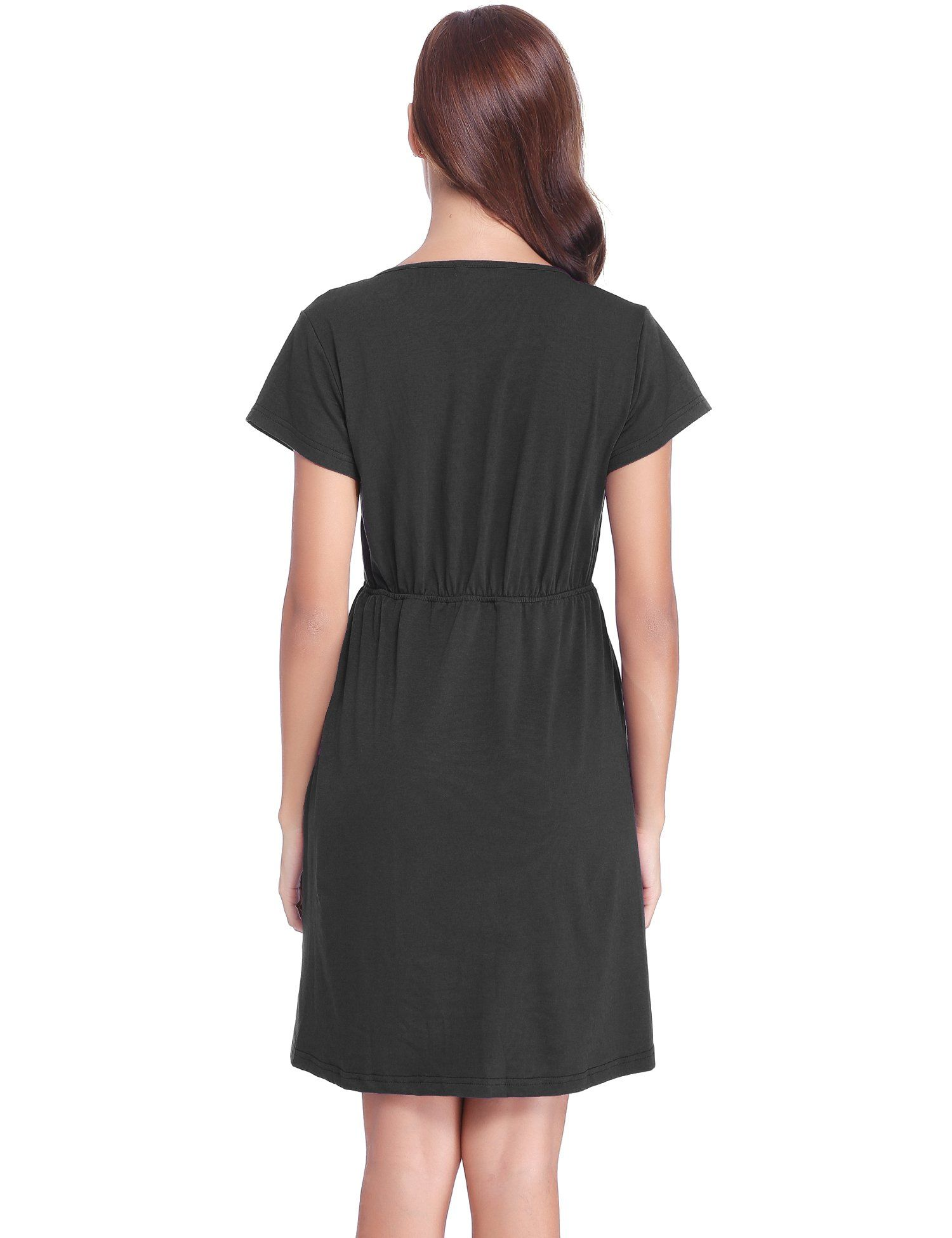 dc187caeac6db Maternity Outfits - sensible maternity dresses   Abollria Womens Short  Sleeve Ruched Maternity Nursing Breastfeeding Dress -- Be sure to have a  look at this ...