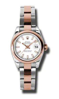 Rolex- Datejust Lady - Steel and Gold Pink Gold - Domed Bezel - Oyster # 179161WSO