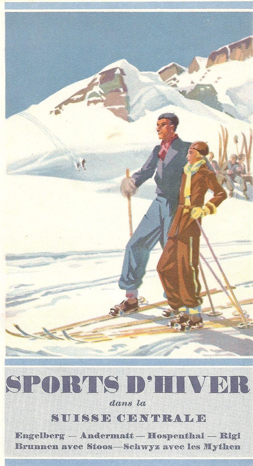 Sports D Hiver Ski Culture Ski Posters Vintage Ski