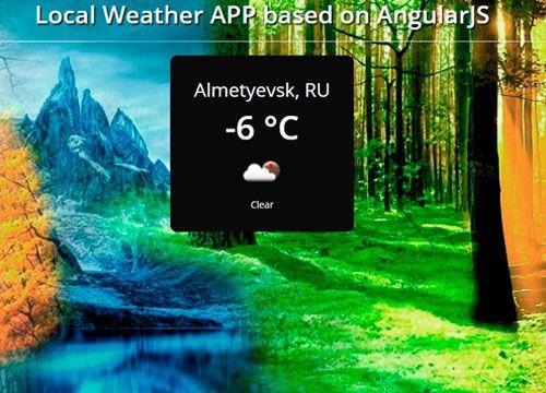 WeatherApp - AngularJS test project