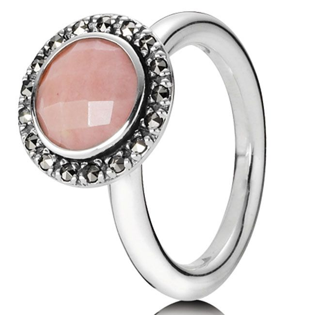 a125b7505 Pandora Match Vintage Pink Opal Ring ~ Love this ring! And It's stackable <3