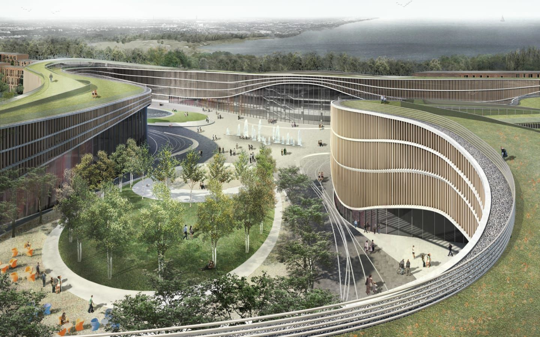 international architectural design competition for otaniemi central
