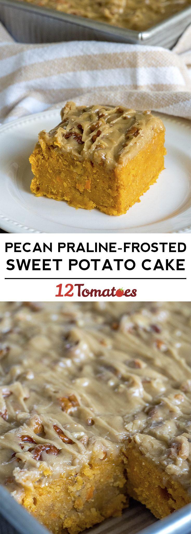 Sweet Potato Praline Cake #pralinecake
