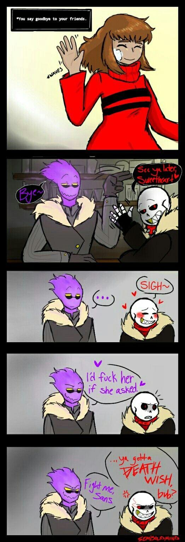 hmmm!!* Papyrus: fight !!! | Undertale anime | Sans x frisk comic