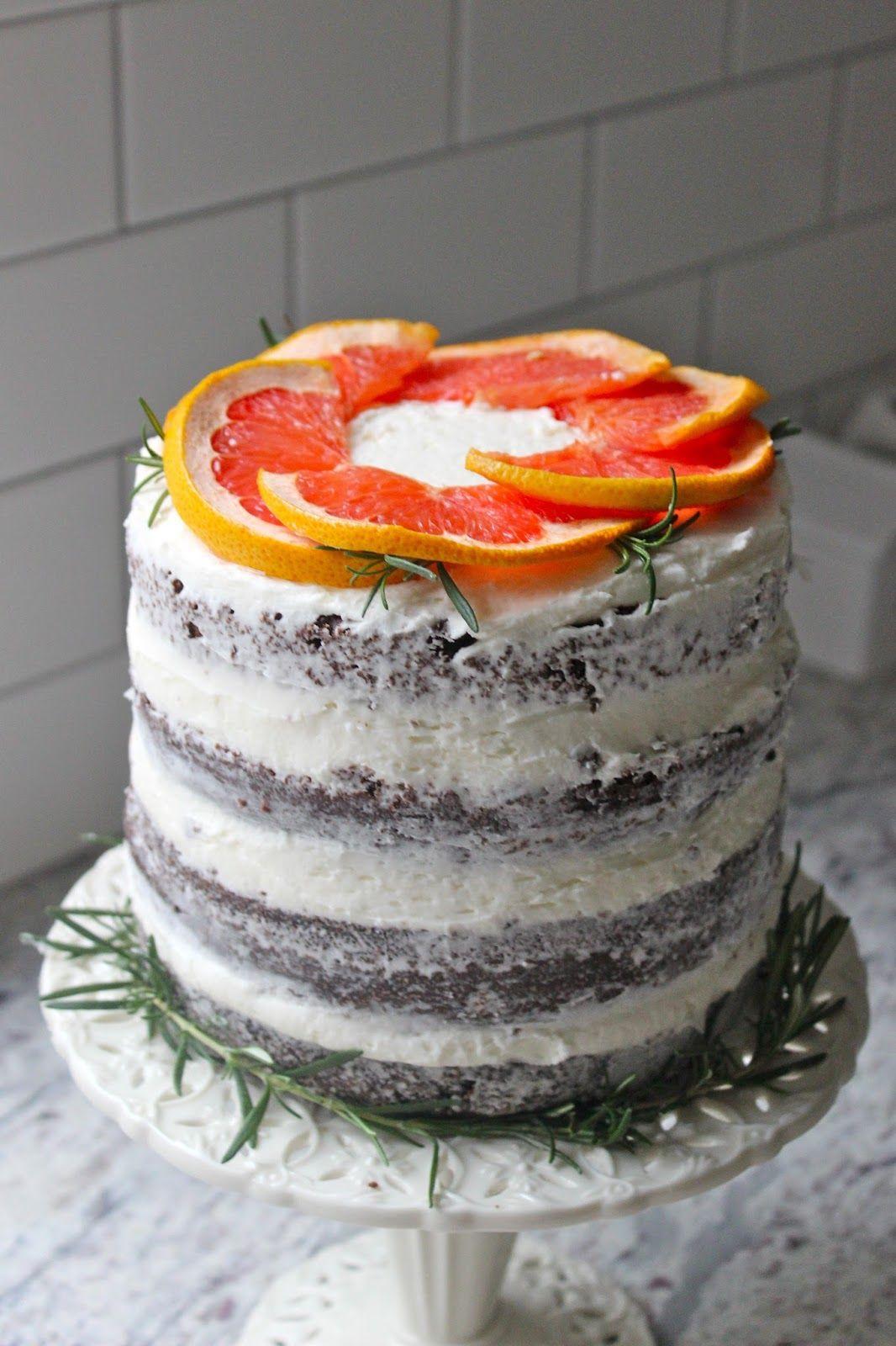 Rosemary and Grapefruit Chocolate Cake