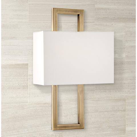 Possini Euro French Br 15 1 2 H Rectangular Wall Sconce 1h572 Lamps Plus Canada Powder Room Pinterest Sconces And Contemporary