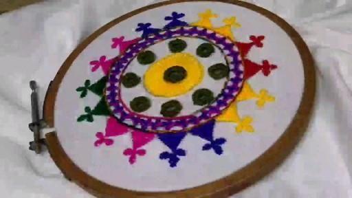 Amazing Hand Embroidery Sindhi work design