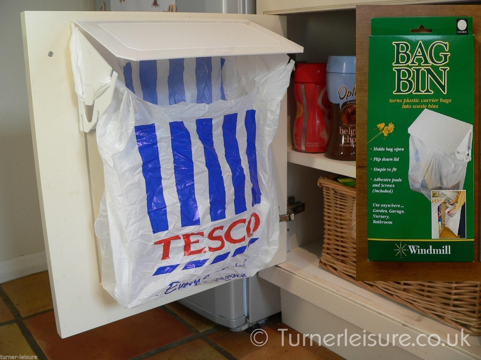 Carrier bag bin holder Plastic bags to rubbish bag in motorhome \u0026 caravan door & Carrier bag bin holder Plastic bags to rubbish bag in motorhome ...