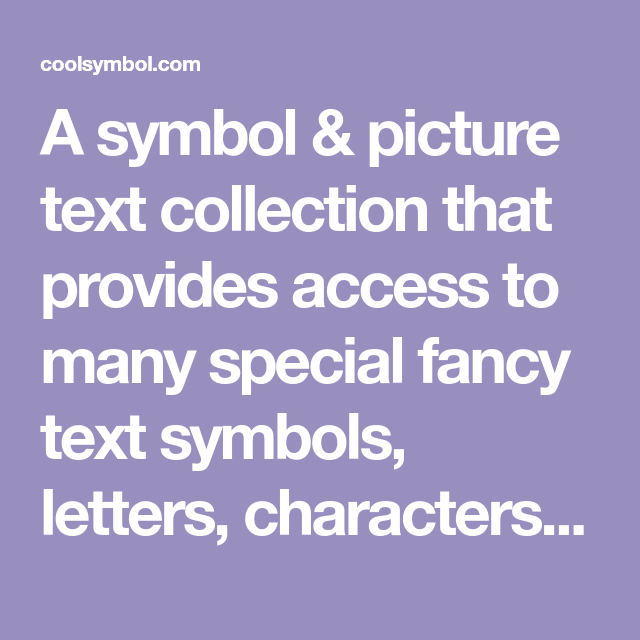 A Symbol Picture Text Collection That Provides Access To Many