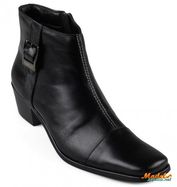 Sepatu Boot Wanita Rosemary Hitam Kulit Asli Model Sepatu