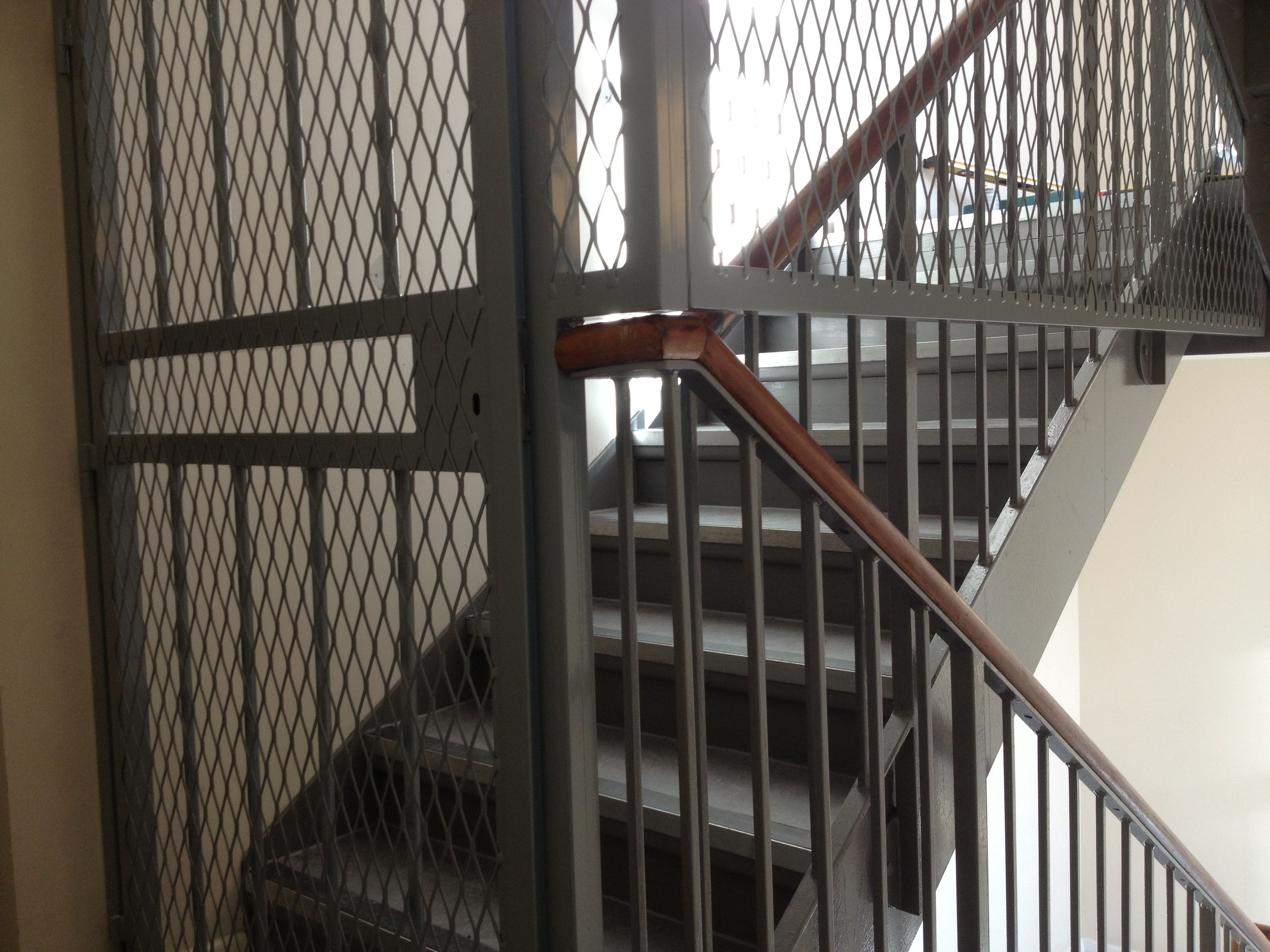 Mesh Gate With Fixed Mesh Grilles Fitted To The Staircase Of A Residential  Flat In Central London.