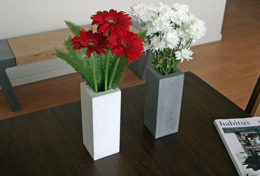 POPconcrete Vases in White and Grey