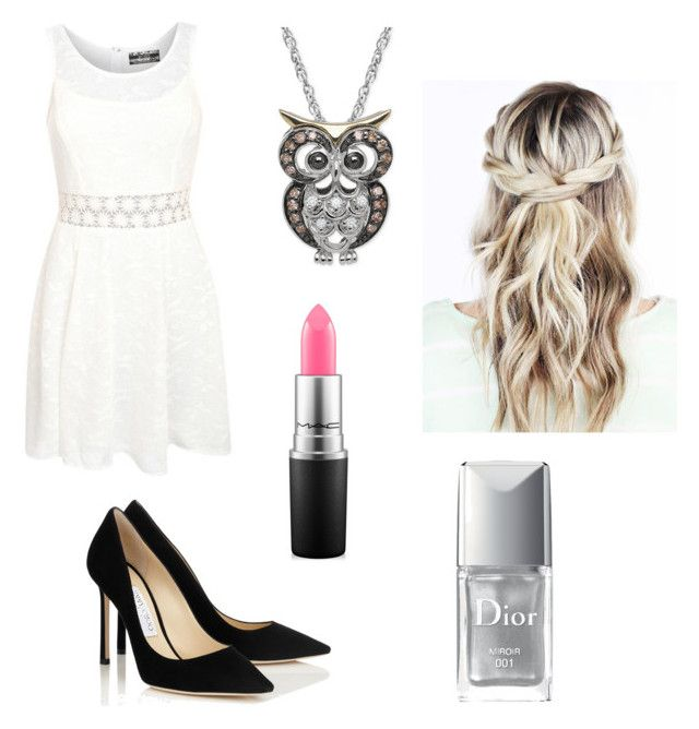 """""""Day 4- Athena, Formal"""" by whynot3711 ❤ liked on Polyvore featuring Pilot, Christian Dior and MAC Cosmetics"""