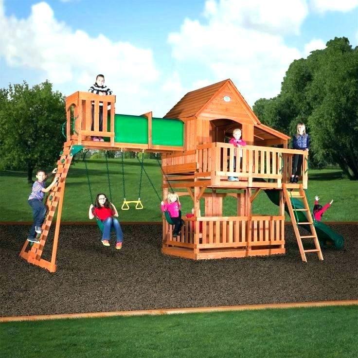 Backyard Swing Set Ideas in 2020   Wooden swing set, Swing ...