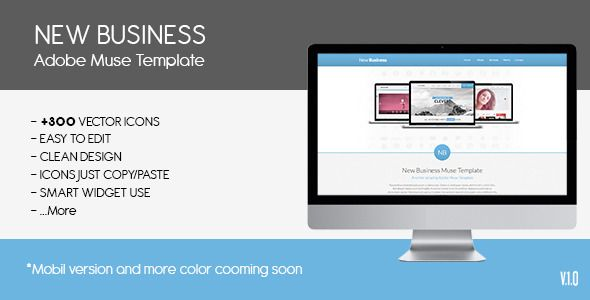 Parallax New Busines | Muse Template   http://themeforest.net/item/parallax-new-busines-muse-template/6563587?ref=damiamio            Muse Template: New Business Template - Alpha Effect - +300 VECTOR ICONS - FACEBOOK LIKE - ICONS JUST COPY/PASTE - SMART WIDGET USE - WEBKIT FONTS   Demo images are not included in the main package.     Created: 14January14 LastUpdate: 14January14 Resolution: Desktop ThemeForestFilesIncluded: MuseFile Tags: AdobeMuseTemplate #HTMLandCSS3 #adobemusetheme…