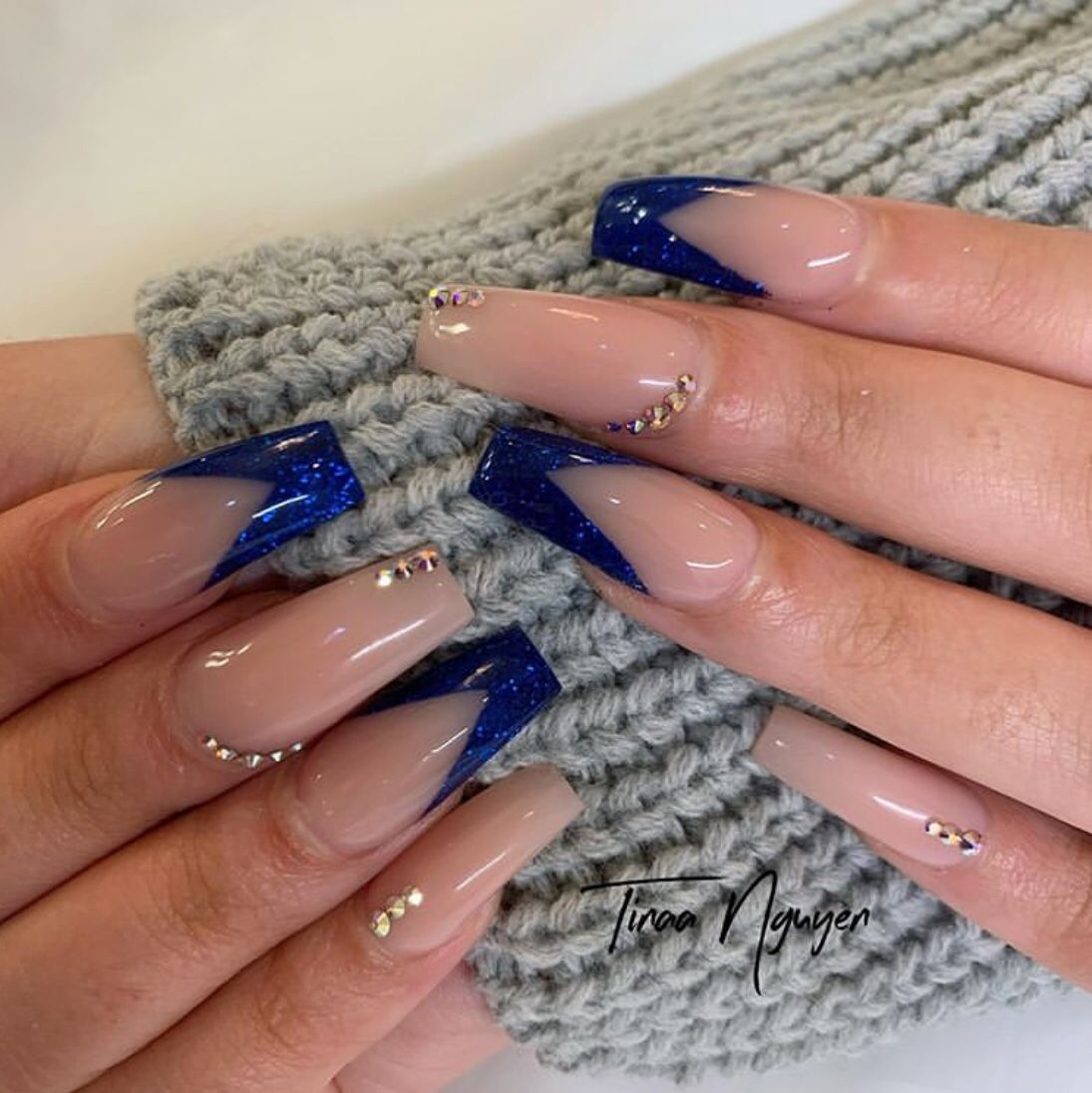 50 Glam Nail Designs For Prom 2020 The Glossychic In 2020 Glam Nails Pretty Acrylic Nails Crystal Nails