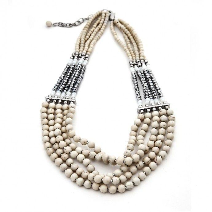 Cream Turquoise Necklace