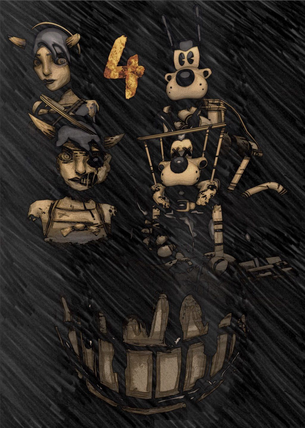 Chapter 4 Bendy And The Ink Machine Z By Ziagy Bendy And The
