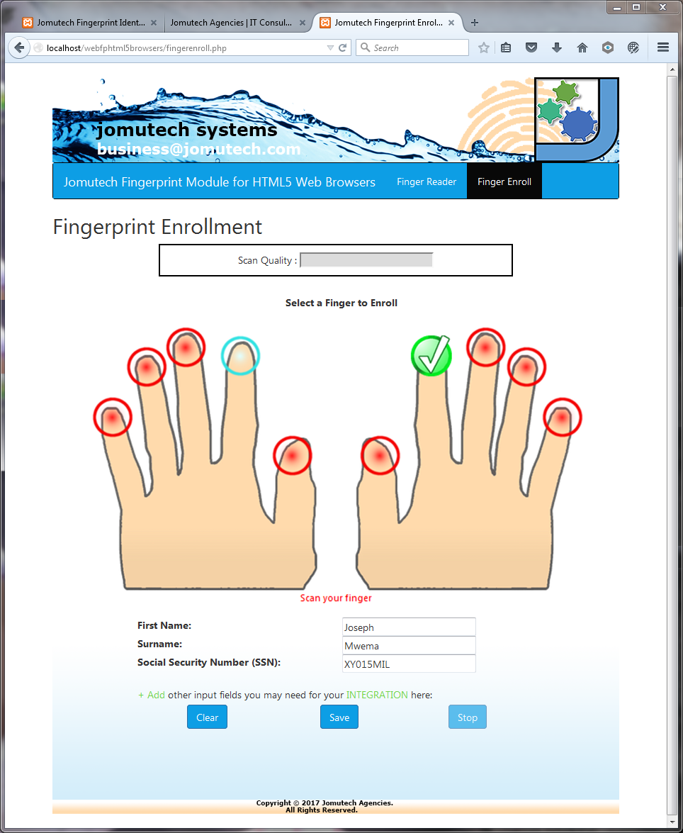 This is the HTML5 Web Browser Fingerprint Authentication