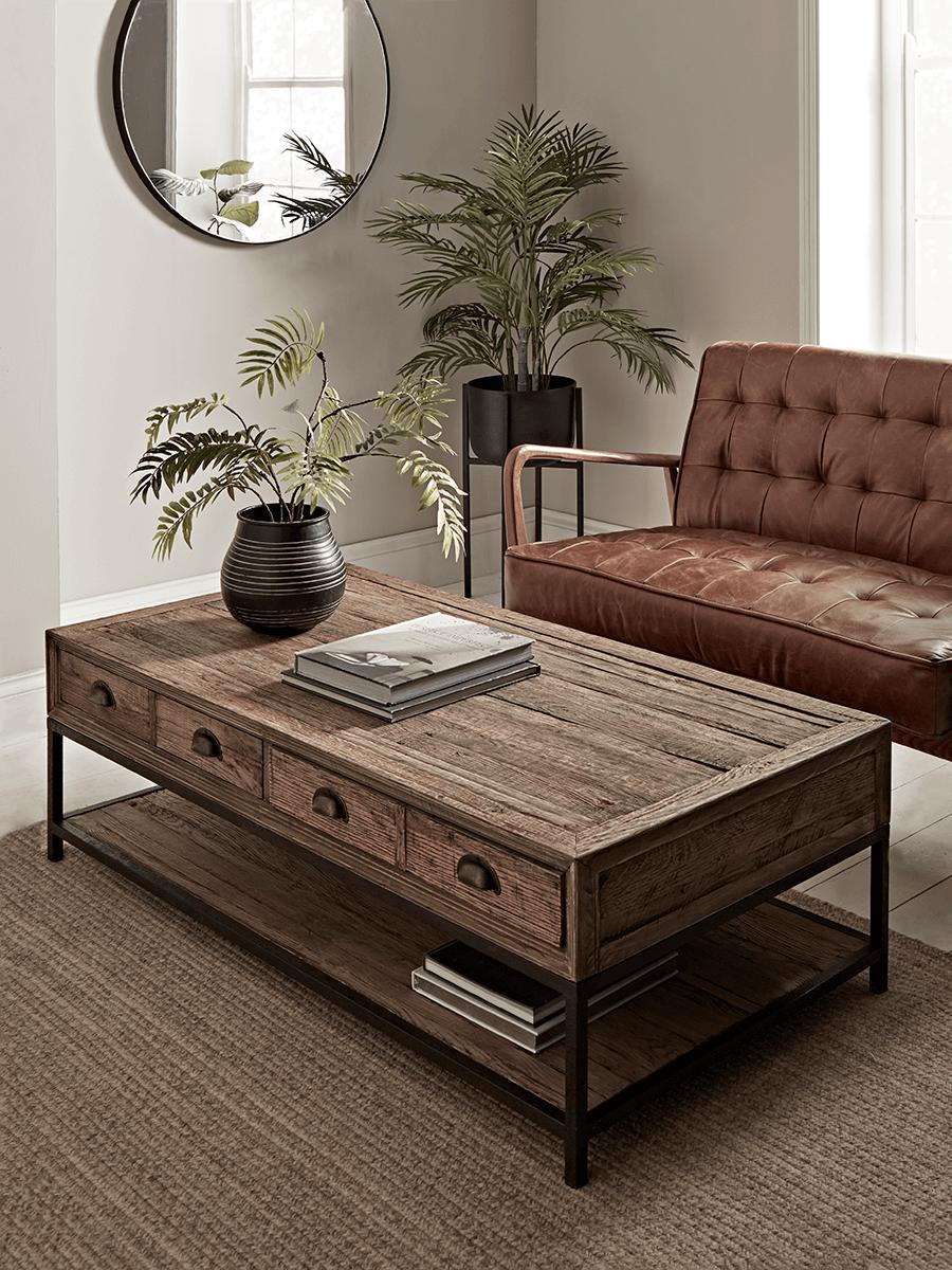 Reclaimed Oak Coffee Table Oak Coffee Table Luxury Home Furniture Side Tables Uk
