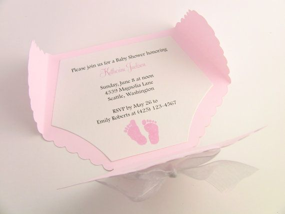 12 diaper baby shower invitation thank you or new baby customize any color 10 diaper baby shower invitation thank you or new baby announcement cards baby girl pink filmwisefo