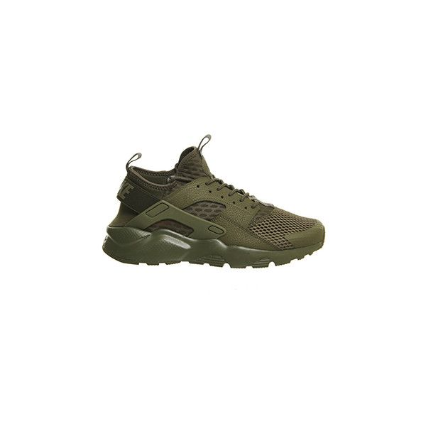 d3455360a774 Nike Air Huarache Run Ultra M Medium Olive Breathe ( 135) ❤ liked on  Polyvore featuring shoes