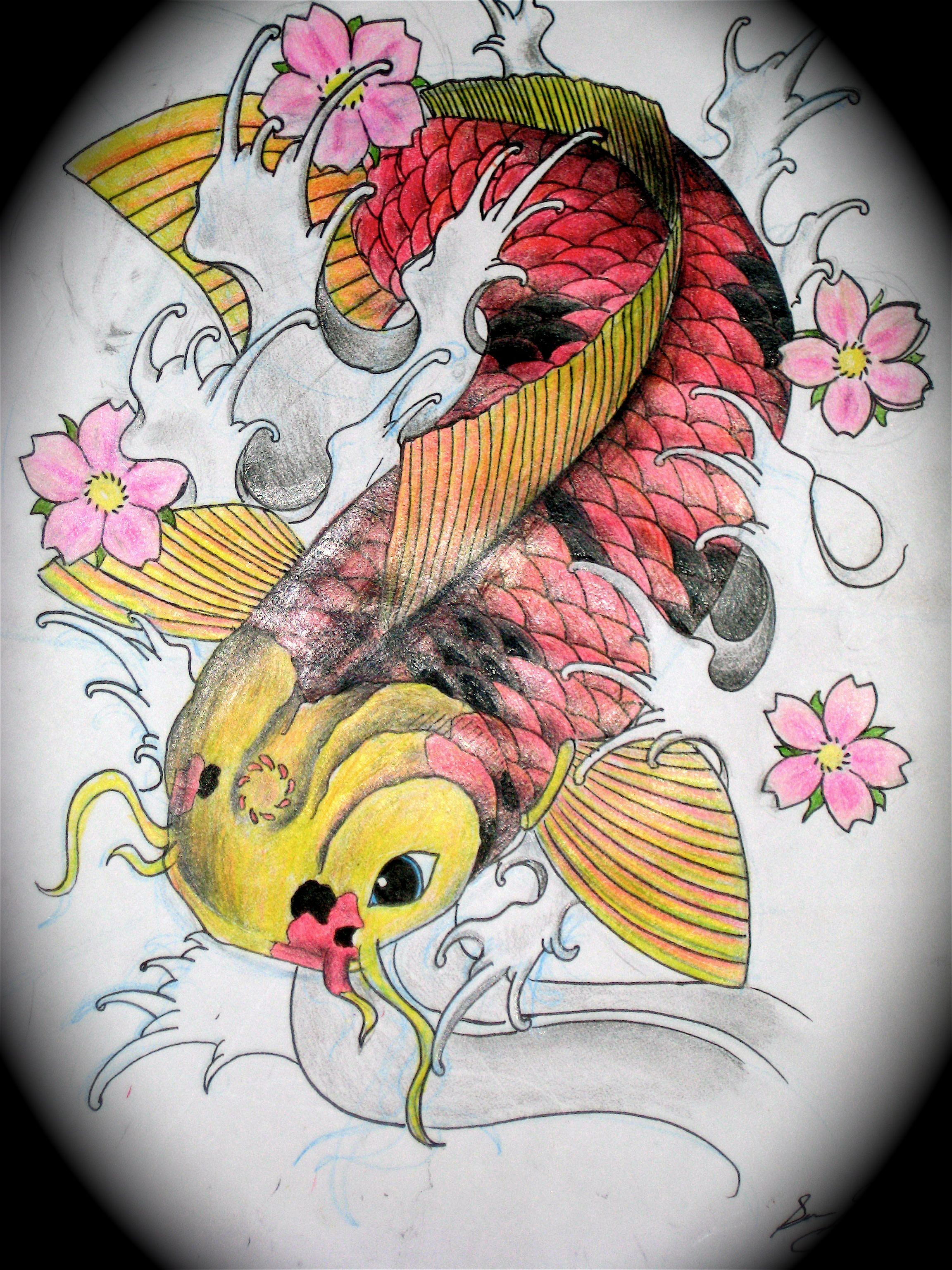 Koi Fish meaning in Japan is good fortune or luck they