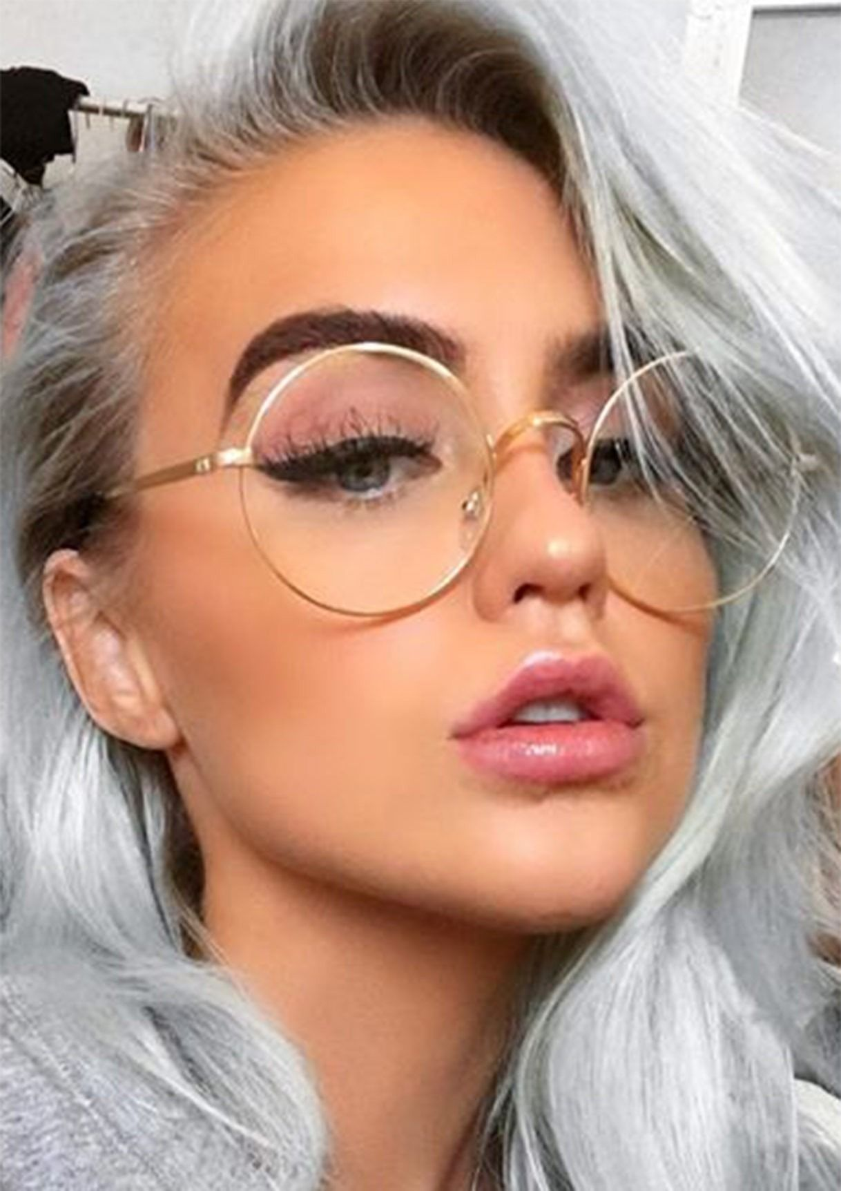 98941ad6b9b Clear lens circle frame non-prescription glasses. One of the seasons best  fashion trends for women accessories