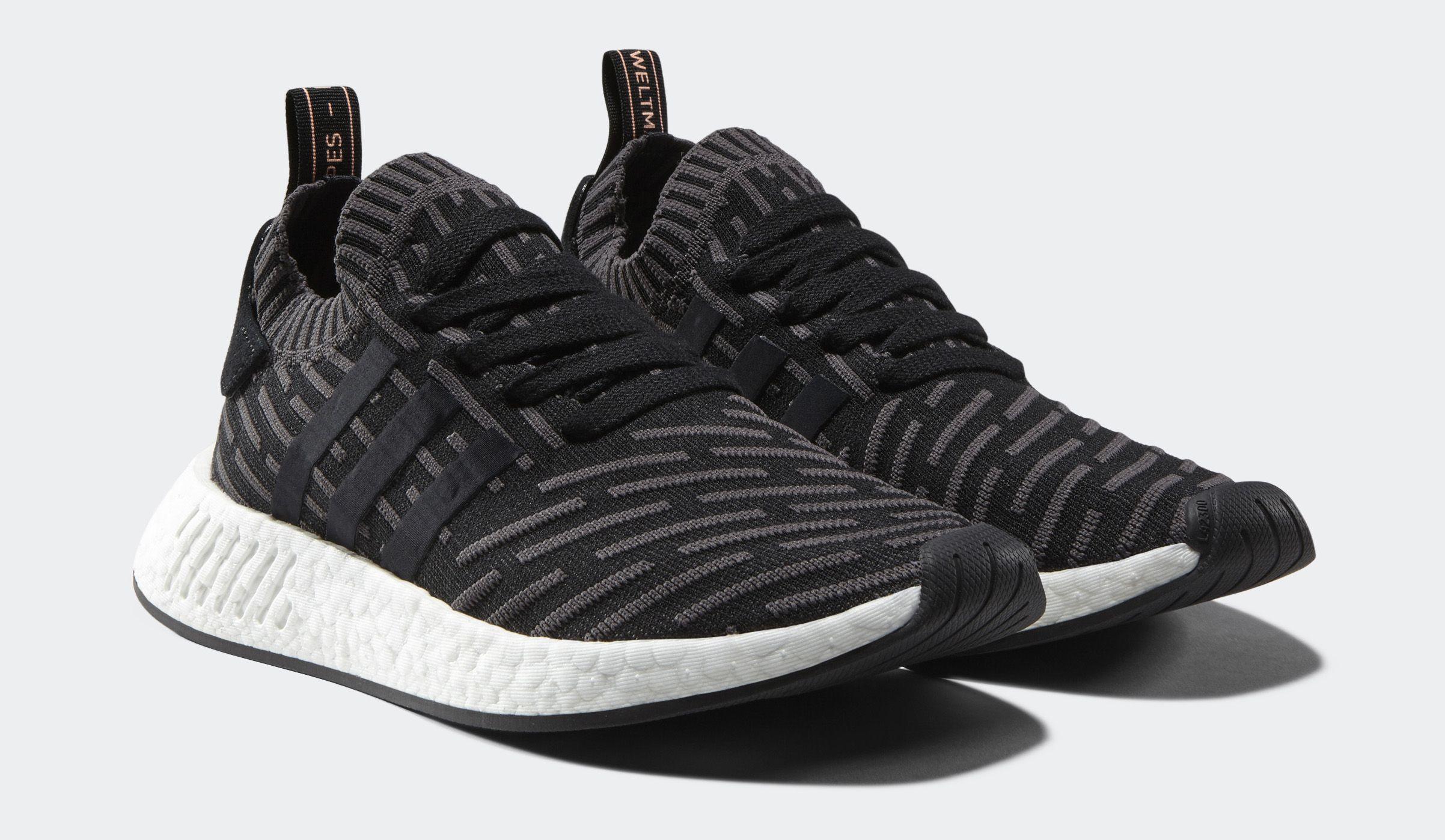 adidas shoes nmd r2 mens primeknit core black the new adidas shoes that look like roshi runs