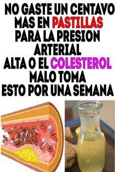 Remedio para la presión arterial y reducir el colesterol..