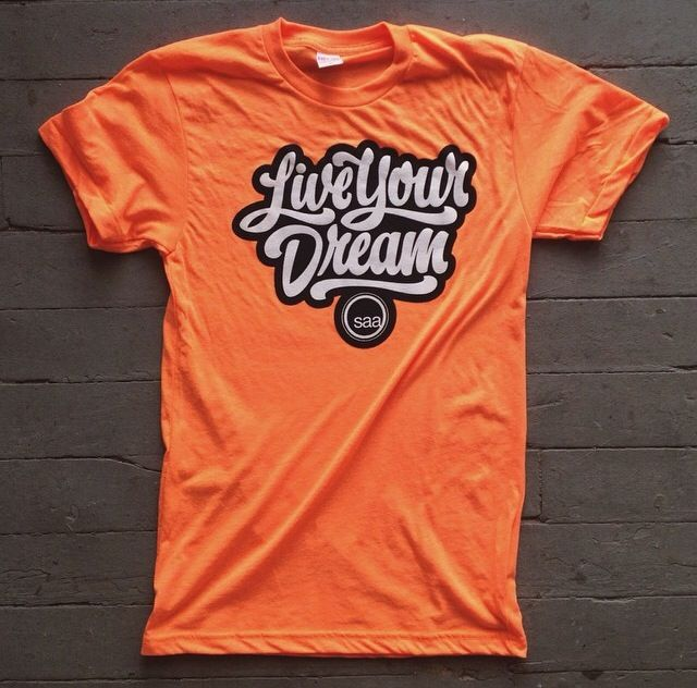 Our new shirts. Lettering by Bob Ewing. www.saa.edu #SAALiveYourDream