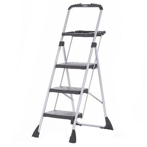 Cosco 3 Step Platform Folding Painting Ladder Clean Windows Paint Kitchen Garage #Cosco