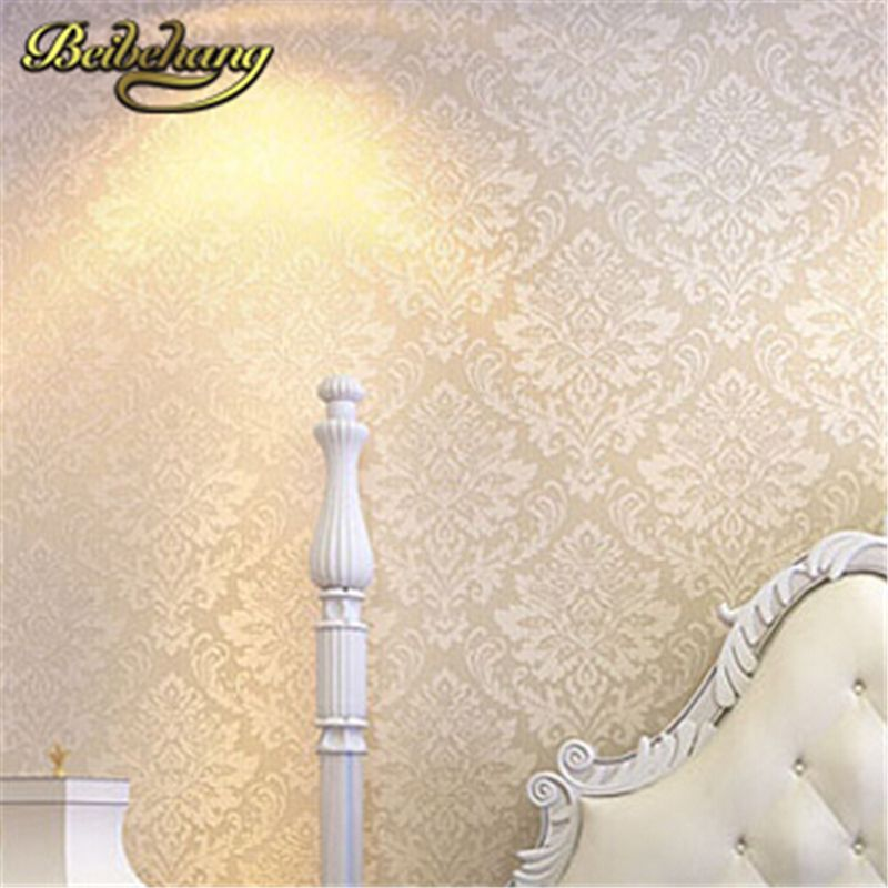 Beibehang Wall Coverings Mural Paper Roll Bedroom Sofa Off White Textured Feature Europe Vintage Glitter