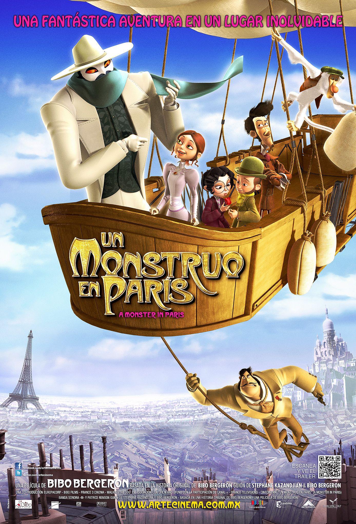 Un Monstruo En Paris Un Monstre A Paris Un Monstruo En Paris Peliculas Infantiles De Disney Monstruos