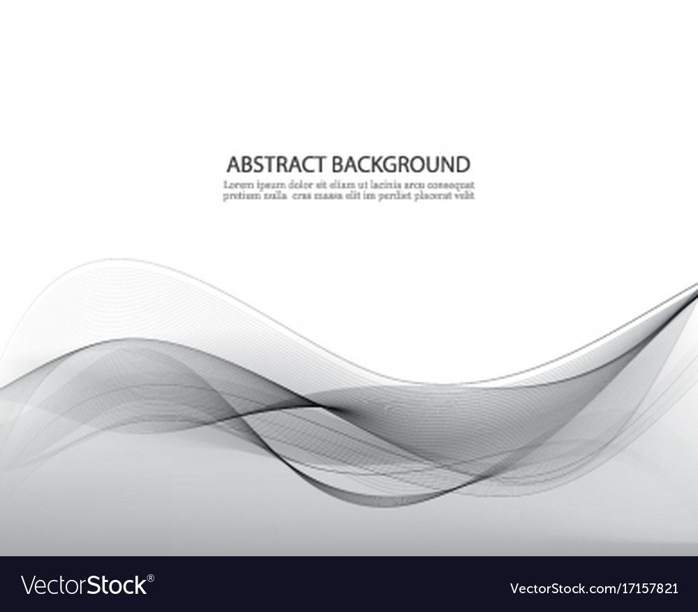 Grey Abstract Waves Grey Background Vector Image On Abstract