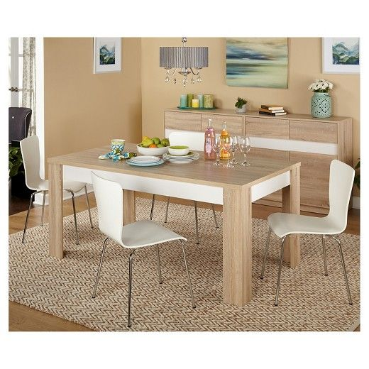 mandy dining set natural white 5 piece tms target ensemble de salle a