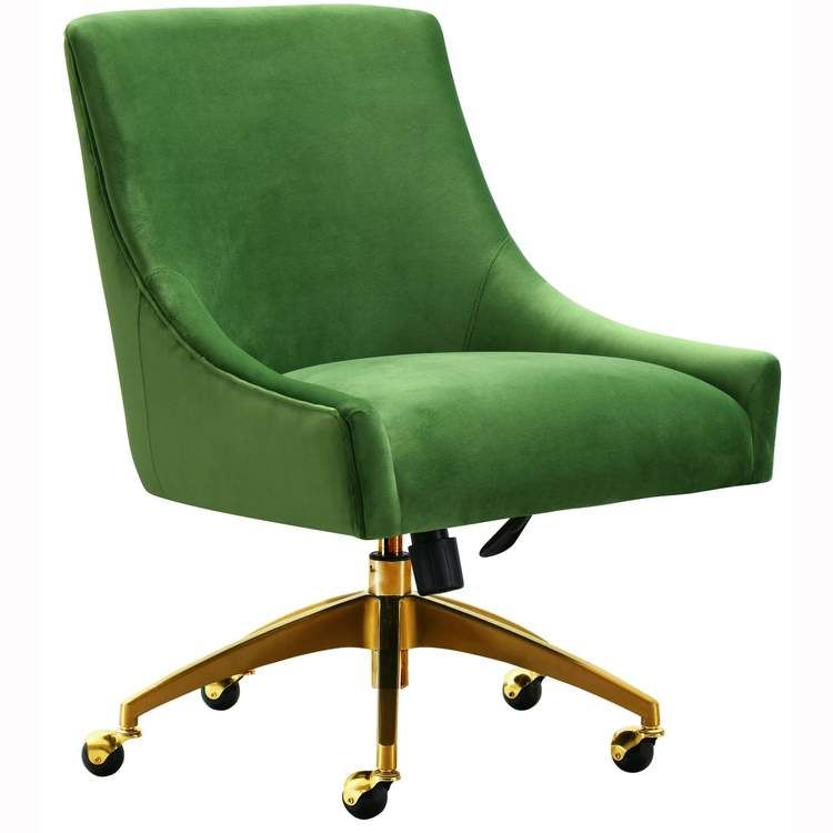 Beatrix Swivel Office Chair Green In 2020 Upholstered Office Chair Swivel Office Chair Modern Office Chair #office #chair #for #living #room