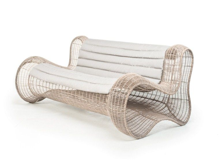 Polyethylene sofa PIGALLE Sofa - KENNETH COBONPUE Outdoor fur - Balou Rattan Mobel Kenneth Cobonpue