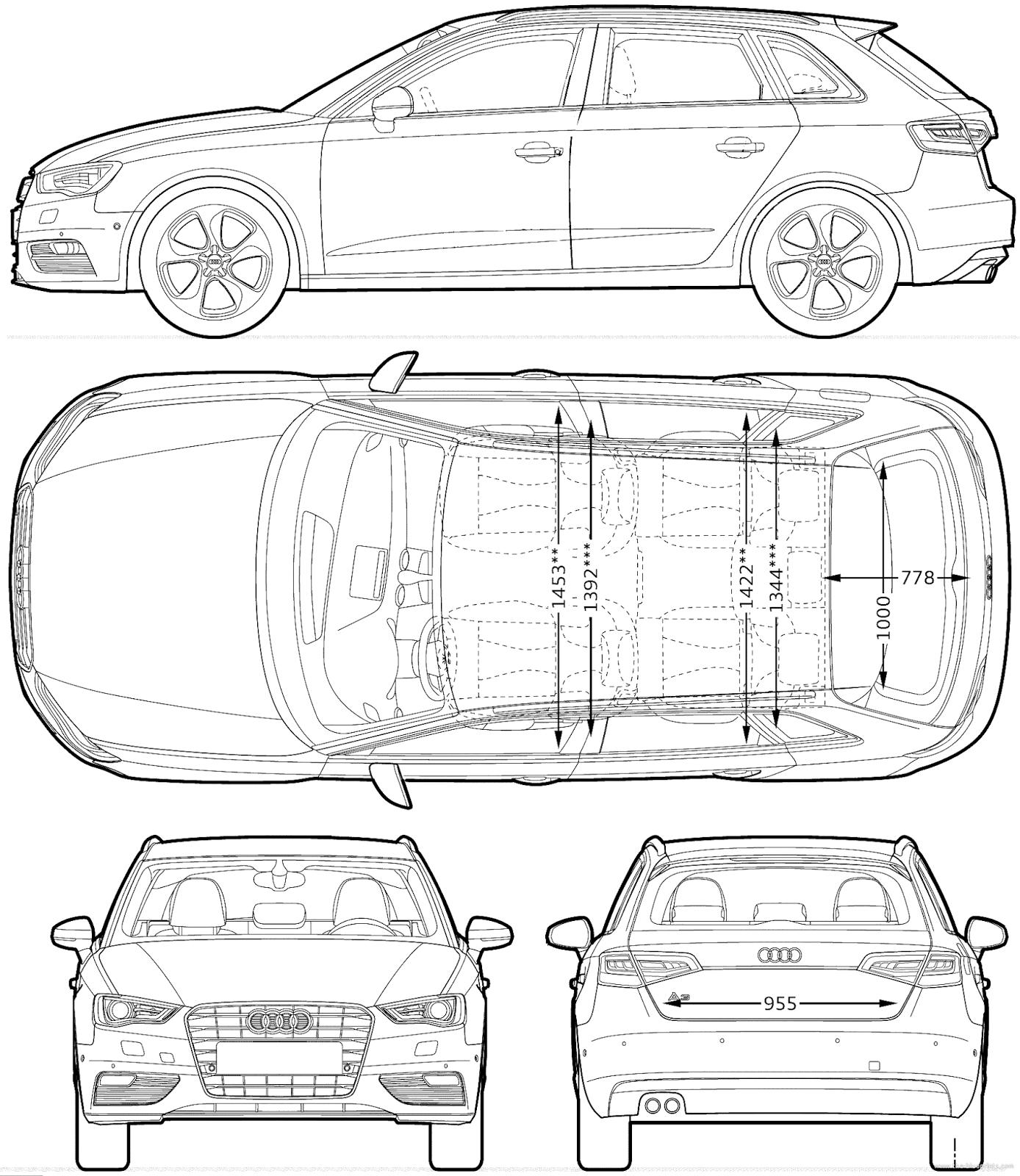 Audi a3 sportback blueprints pinterest dibujo audi a3 sportback malvernweather Image collections