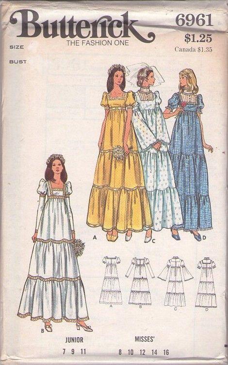 MOMSPatterns Vintage Sewing Patterns - Butterick 6961 Vintage 70s ...