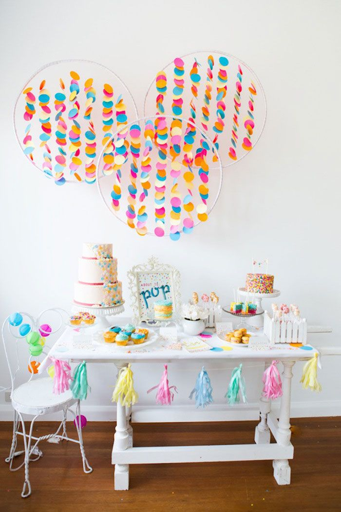 Confetti Sprinkles Baby Shower Geburt Madchen