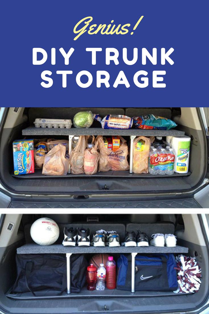 Genius Build A Car Trunk Organizer Diy Storage Bob