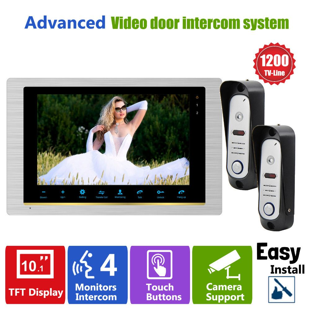 Delicieux Homefong Video Door Phone System Home Intercom High Resolution Front Foor Monitor  System Inter Conversation