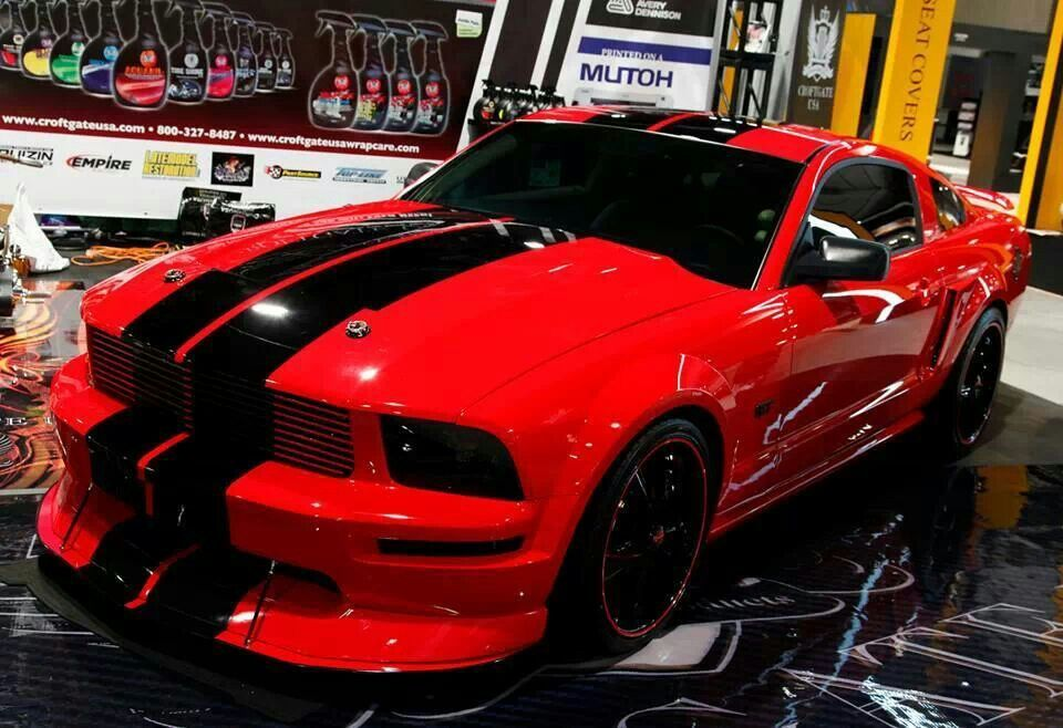 Red Black Mustang Mustang Cars