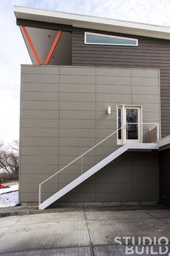 Hardie Lap Siding Was Paired With Nichiha Cement Fiber Panels To
