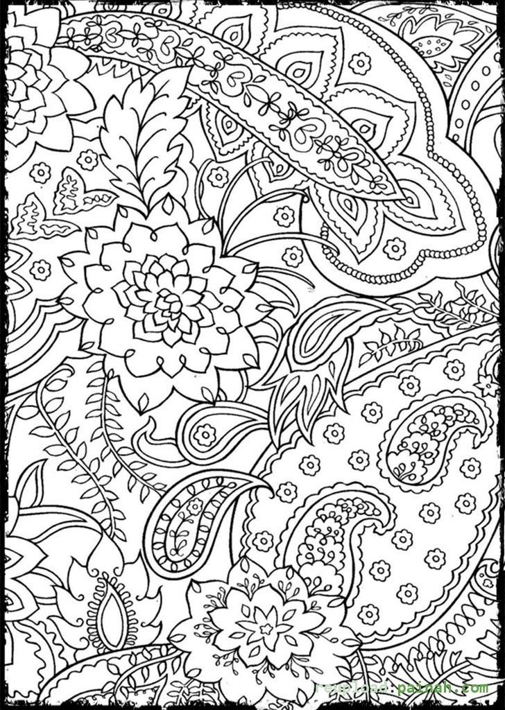 Advanced Coloring Pages for Adults Beautiful Flower Adult Coloring - new advanced coloring pages pinterest